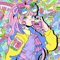 Moe Moe by Moe Shop on SoundCloud Art And Illustration, Illustrations, Arte Do Kawaii, Kawaii Art, Pretty Art, Cute Art, Anime Kunst, Anime Art, Pastel Art