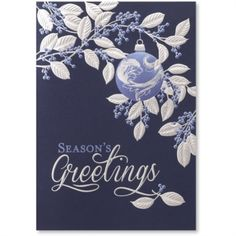 Ornament With Leaves Deluxe Holiday Greeting Card | PaperDirect