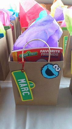 Elmo + Cookie Monster Sesame Street Birthday Party via Kara's Party Ideas…