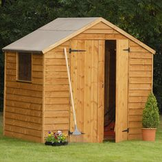 overlap dip treated reverse apex sheds forest gardens range of reverse apex sheds are available in a range of sizes suitable for any size gard - Garden Sheds B Q
