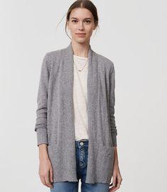 Image of Pocket Open Cardigan color Dark Silver Melange