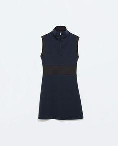 Image 6 of MIXED FABRIC ZIPPED DRESS from Zara