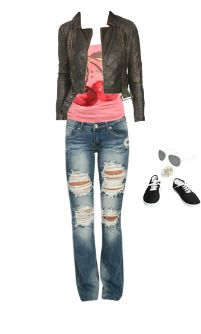 WetSeal.com Runway Outfit:  Grunge School by kshaines. Outfit Price $113.99