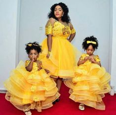 Modern 2019 Special Asoebi for Mother and Kids - Hairstyles African Dresses For Kids, African Lace Dresses, African Fashion Dresses, African Attire, Mother Daughter Fashion, Mother And Child, Mother Daughters, Mothers, Ankara Styles For Kids