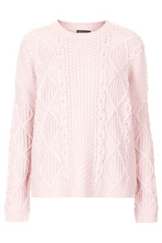 Knitted Chunky Cable Jumper - Topshop USA