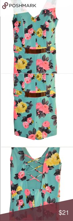 **LAST ONE** Floral Galore Romper For floral being so in, this is a must-pick romper to add to your closet collection. Check out the belt accessory and look at that back detail. This romper is LOVE!  Material: 95% Polyester and 5% Spandex Other