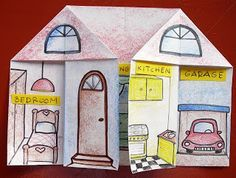 Kids Love English: Parts of the House Great idea for kids to study the parts of a house. Kids Love English: Parts of the House Great idea for kids to study the parts of a house. Spanish Classroom, Teaching Spanish, Teaching English, Teaching Kids, English Primary School, Elementary Teaching, Teach English To Kids, Kids English, English Activities For Kids