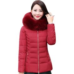 MEBOSYA 2016 Winter Jacket Women Fur Collar Down Wadded Jacket Thick Female Cotton-padded Jackets Winter Coat Women Parkas