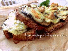 Eggplant and Brie Toast
