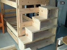 Image result for bunk beds with stairs