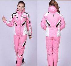 Pas cher Ems nouvelle modèles féminins en plein air combinaison de ski araignée combinaison de ski alpinisme vent plus le coton sous   vêtements costume livraison gratuite, Acheter  Ski vestes de qualité directement des fournisseurs de Chine:
