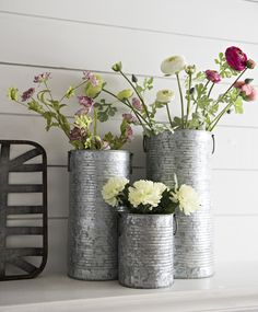 Fresh flowers look great in a galvanized vase! Would you put this on the mantel or your bookshelf?
