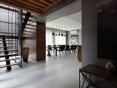 """House Redesign Abundant in Soft Walnut Hues: """"Two-Levels"""" Project in Ukraine"""