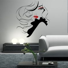 Wall Stickers Salon Pin Up Girl Woman Modern by GlitterBlast