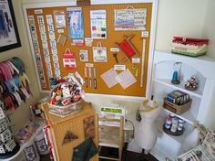 FRIENDS PROJECTS - Carolyn P's sewing room