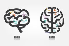 Check out Infographics Vector Brain Design by Pongsuwan on Creative Market
