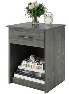 The Wooden night stand bedroom end table side coffee table features one drawer to provide concealed storage. This Wooden night stand bedroom end table side coffee table is perfect to store small and large items and are an excellent complement to any decor, and they assemble easily with household tools.