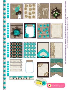 Free Printable Rustic Stickers for Erin Condren Life Planner