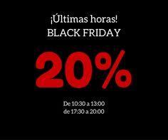 ¡Últimas horas de Black Friday!, ¡Visítanos y aprovéchate de un 20% de descuento en todas las prendas.