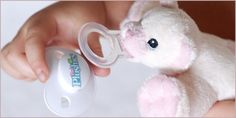 Paci-Plushies Pacifier Holders: Introducing Paci-Plushies® Pacifier Lovies™ Incredibly light weight plush characters attach to infant pacifiers, making the pacifier easy to find and easy for baby to place in it's mouth. http://www.PaciPlushies.com/