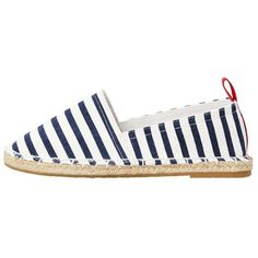 Unisex Striped Espadrille ($28) ❤ liked on Polyvore featuring shoes, sandals, mango shoes, cotton shoes, mango sandals, stripe shoes and striped espadrilles