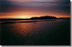 Snowshoe Island at Sunset Bay Emma Lake Sask.
