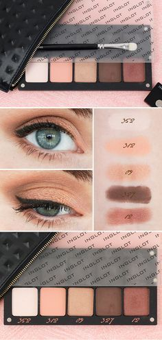 Inglot Eyeshadow Review, Swatches and Eye Makeup