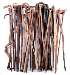 Walking sticks and canes.