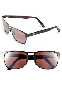 32002202636e8 Men s Maui Jim  Hang 10  57mm Polarized Sunglasses - Burgundy  Maui Rose