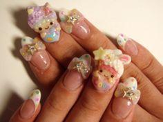 Cute pastel nail art!