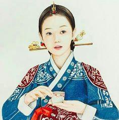 Korean Illustration, Beauty Illustration, Korean Art, Asian Art, Korean Traditional, Traditional Outfits, Korean Picture, Korean Painting, Ap Studio Art