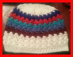 Crochet Hat with puff stitch