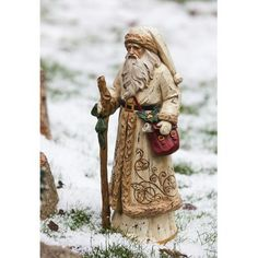 Evergreen Flag & Garden Old World Santa Gold Overcoat Christmas Decoration Noel Christmas, Father Christmas, White Christmas, Christmas Ornaments, Christmas Crafts, Retro Christmas, Christmas Ideas, Christmas Stuff, Santa Figurines