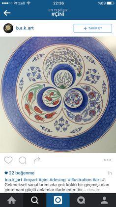 Çini Turkish Design, Turkish Art, Ottoman, Tile Murals, Pottery Designs, Caligraphy, Islamic Art, Print Patterns, Plates