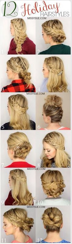 Some festive hair styles to get you in the mood for Christmas