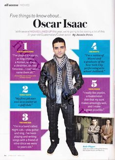 He's in a band AND he cooks!!! I hate you. Oscar Isaac