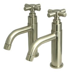 Elements of Design South Beach Basin Cock Faucet Finish: Satin Nickel