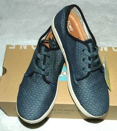 TOMS Women's Paseo Chambray Polka Dot Shoes Size 8.5 #TOMS #Sneakers #CasualFootwear
