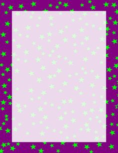 Stars Border Purple and Green