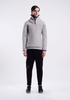 sculpted hoody | half-zip | pull-over