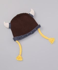 Take a look at this Brown Viking Earflap Beanie by Short Army on #zulily today!