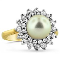 Dream ring a pearl and guaranteed conflict free <3 |by Brilliant Earth Ethical Origin Fine Jewelry.