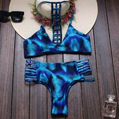 db85e7f98b68 Aliexpress.com: Compre Trangel 2017 mulheres high neck bikini impresso  meados de cintura sem costura maiô cortar swimwear reversível brazlian maiô  biquíni ...