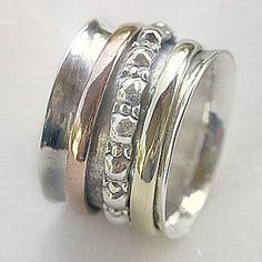 Meditation Rings, Sterling Silver, Brass, Copper, Worry Rings, Worry Rings, Prayer Ring, Buy Online, Retail & Wholesale Jewellery Store | Cahoia Creations | Vancouver Island, BC, Canada