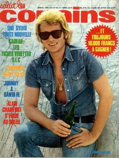 Johnny Hallyday on the cover of Salut Les Copains, April 1974