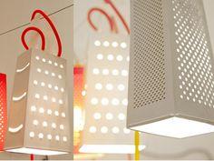 Lampada a sospensione / lampada da parete in Laprene® CACIO