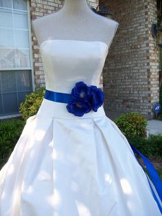 Sash Sale,Wedding Sale,Cobalt Wedding,Royal Blue Wedding,Royal Blue Sash,Flower Sash,Bridal Sash on Etsy, $33.00