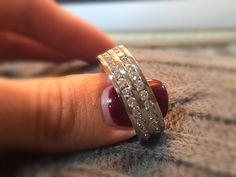 A 3CT Diamond Men's Full Eternity Ring. #thediamondstoreuk #3ct #ring #jewellery #diamonds #wedding #eternity