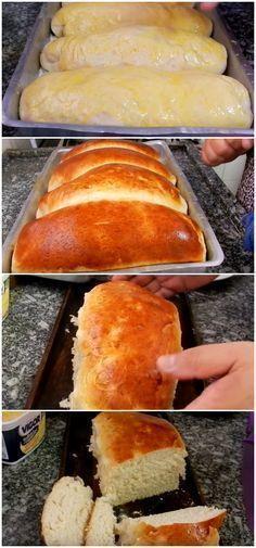 Receita de Pão Caseiro Fácil, Rápido e Simples para Iniciantes Veja como fazer pão caseiro de forma rápida e fácil, mesmo você sendo um iniciante na cozinha. #pão #fofinho #macio #rápido #fácil #pães #massas #caseiro #iniciante #simples