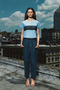 7 Go-To Trends, Upgraded For 2015 #refinery29  http://www.refinery29.com/2015-fashion-trends#slide-3  2014 — The Structured Crop Top Hitting you right at the narrowest part of your waist and shaped like a perfect square, the structured crop top was a go-to with everything from slouchy pants to flirty skirts.